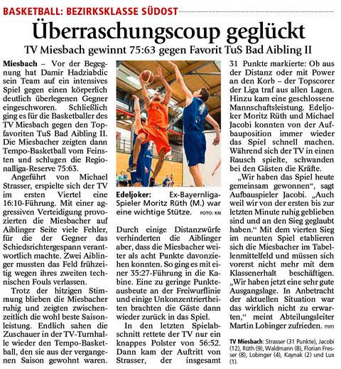 Bericht im Miesbacher Merkur am 26.1.2016 - Zum Vergrößern klicken