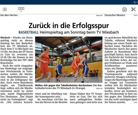 Artikel im Miesbacher Merkur am 2.2.2019 - Zum Vergrößern klicken