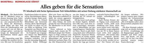 Artikel im Miesbacher Merkur am 12.12.2015 - Zum Vergrößern klicken