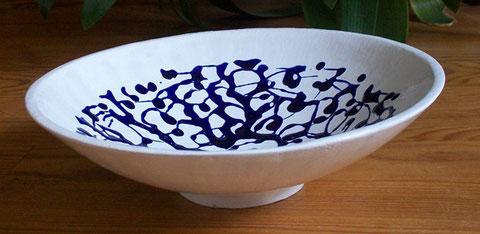 Tonschale, Glasur-Schmuck, Durchmesser 24 cm