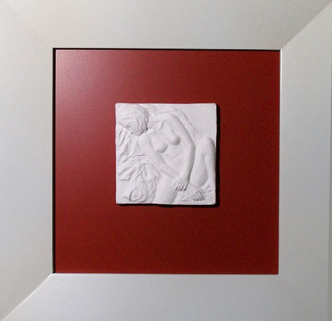 """Porzellan.Relief-Bild """"Schlummernde"""""""