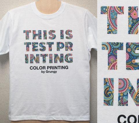 例:文字/イラスト プリント価格@450色は何色使っても料金そのまま。プリント料金はインクの使用料で決ります。