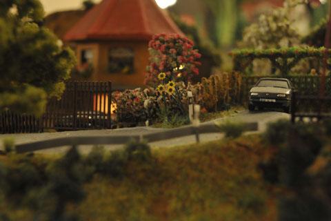 Kleine Szene aus einem Wohngebiet in Olbenau.