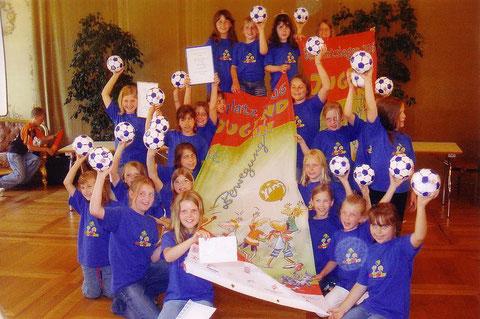 Foto: so sehen Sieger aus, das Team aus Wiesbaden-Breckenheim