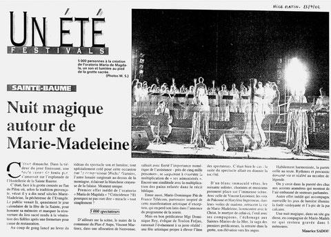 Concert du 21 juillet 2002 à la Sainte Baume
