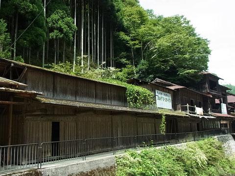 パンフレットで見かけた、京都市北区中川集落にある「磨丸太倉庫群」を見たくて行ってきました。