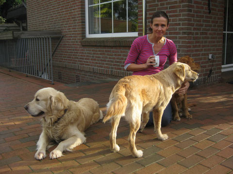 Sabine mit Suri, Aggy und Kimba
