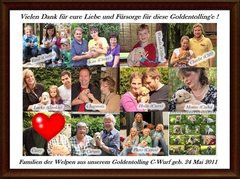 Die Familien der Welpen aus unserem C-Wurf