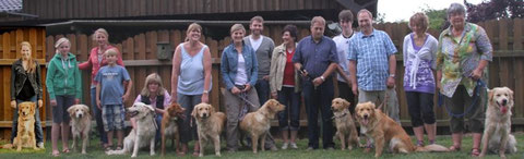 Charlie, Pluto, Lucky, (Urmel) und Mama Cecile, Holle, Kim, Chapman, Caruso