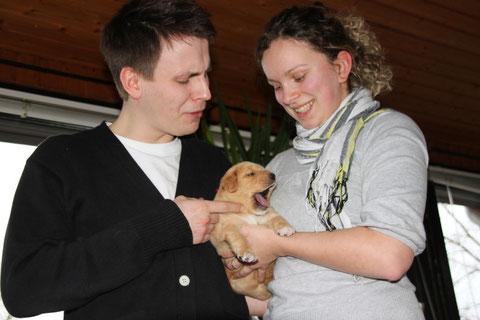 Bruno mit Katja und Stefan