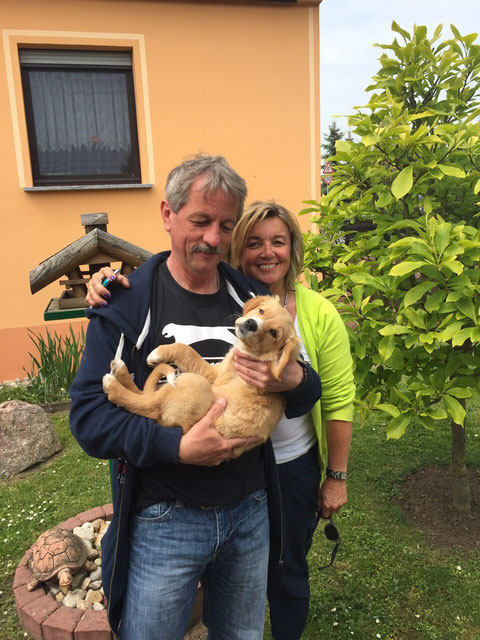 Familie Leier mit Abby