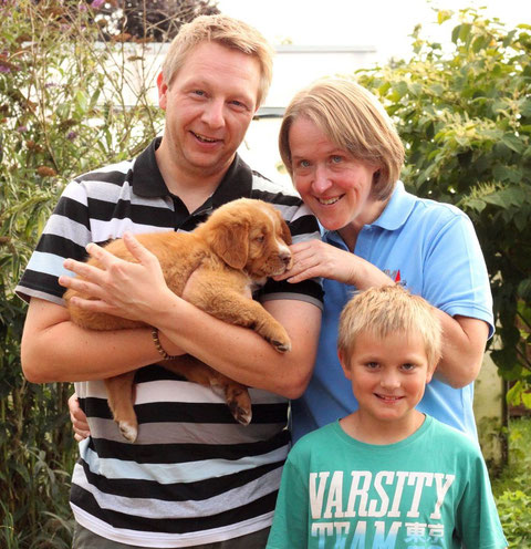 Familie Nerge mit Dexter