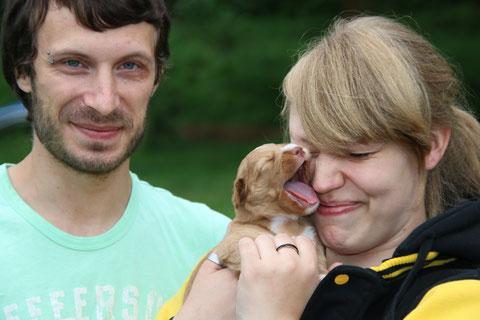 Familienfoto am 07 August 15: Jenny A. und Rene D. mit Gundi