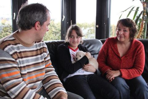 Familie Plautz mit Fiete