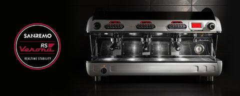 Sanremo Siebträger Kaffeemaschinen, Opera, Café Racer, F18, Zoe, Verona, Verona RS Kaffeemühlen
