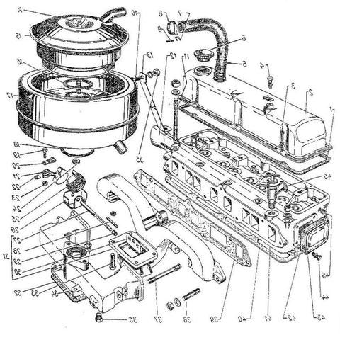 Zylinderkopf mit Ansaug und Auspuffkrümmer Bild Nr.004 aus Ersatzteilkatalog)