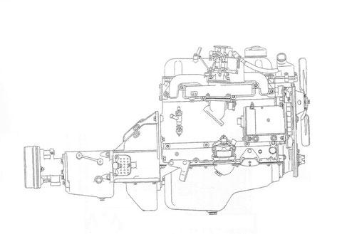 Bild Nr. 6 Motor mit Wechselgetriebe vorn rechts