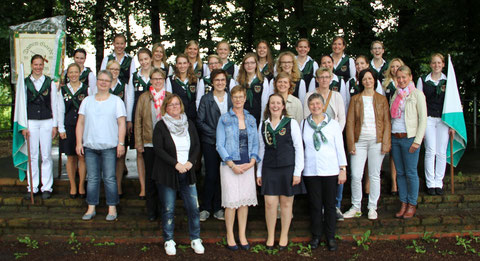 Damengarde 2017 mit Gründungsmitgliedern