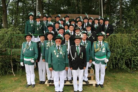 Korps der ehemaligen Majestäten im Jahr des 30-jährigen Bestehens