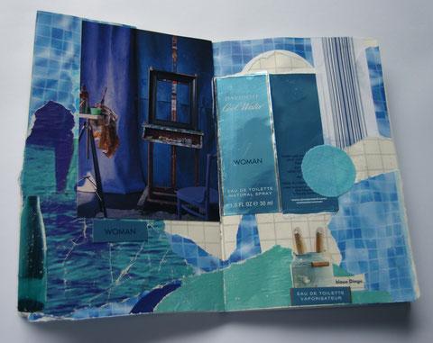 'mach mist' seite für blaue dinge, august 2013 (u.a. verpackung, plakatabriss, werbung, postkarte, stoff)
