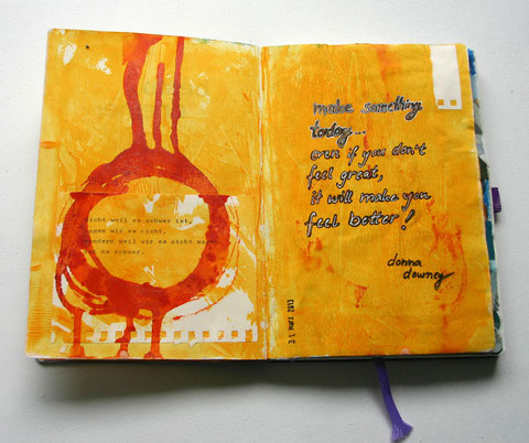 art journal mixed media collage
