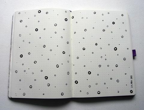 art journal seite punkte und kringel