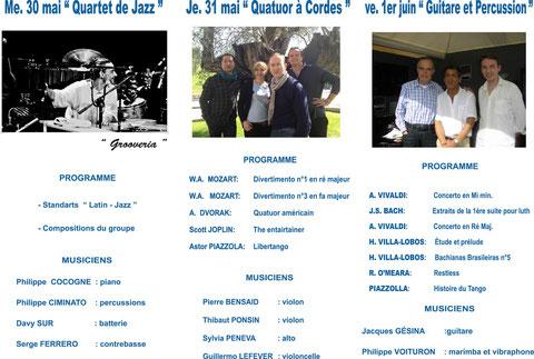 Programme du Festival 2012, verso. Cliquez pour télécharger