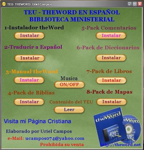 TEU TheWord Español v.4.0.0 by Pastor Uriel Campos.