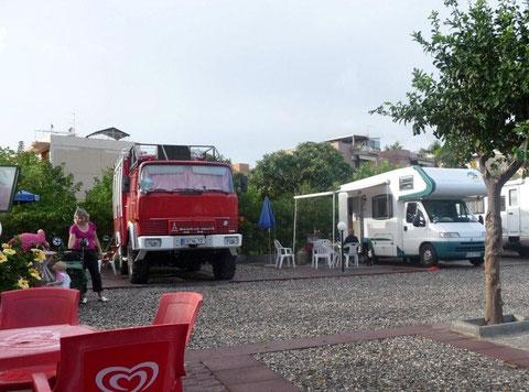 am Stellplatz Giardini-Naxos