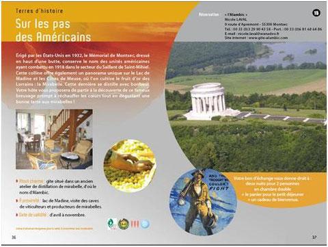 Séjour sur les pas des Américains gite alambic Montsec Meuse