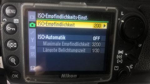 ISO Einstellung bei Nikon D300