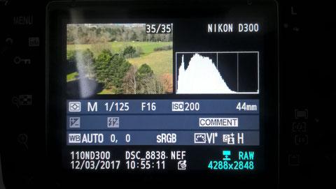 Nikon D300 - Beurteilung einer Aufnahme - Histogramm