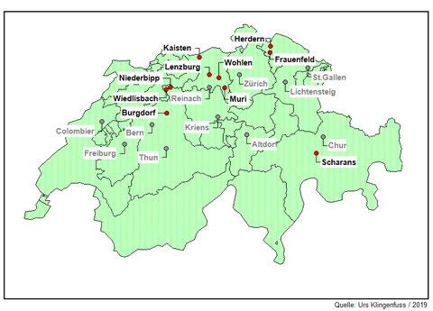 Übersicht Waffenläufe der Schweiz