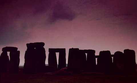 Stonehenge on a cloudy morning, Salisbury Plain, UK.