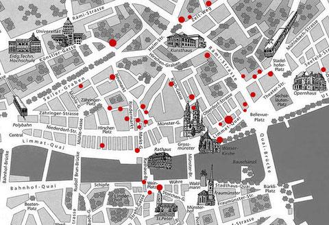 Literarische Orte in der Altstadt von Zürich