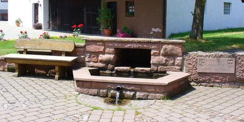 Brunnen in der Ortsmitte