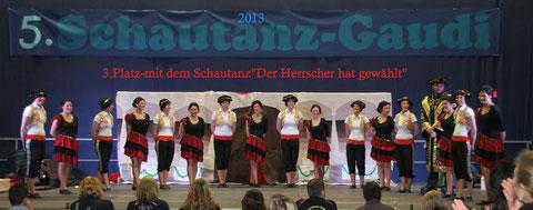 """3.Platz - 2013 - mit dem Schautanz """"Der Herrscher hat gewählt"""""""