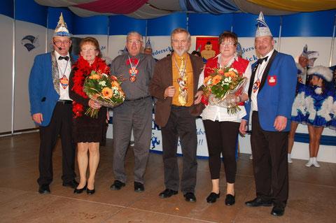 v.l. Volker Noe, Maria Müller, Bruno Müller , Gisbert Heck , Rita Galm u. Dietmar Lutz