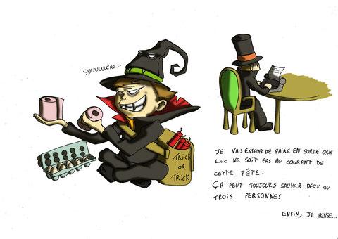 Luc découvre Halloween