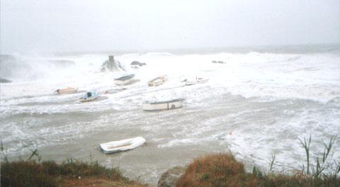 tempête au Scall 1995