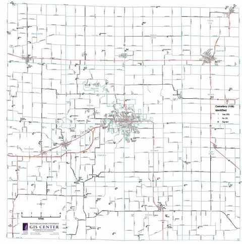 map of all McDonough County cemeteries