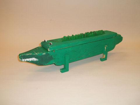 Eine Krokodilschatztruhe.