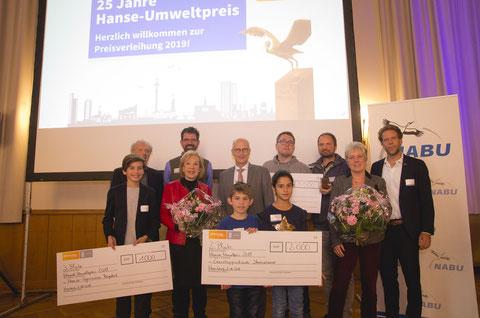 Familienfoto der Preisträger