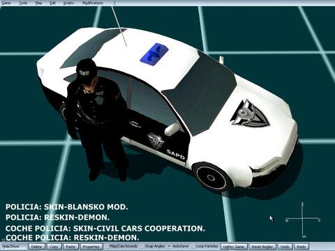 coche y agente san angeles police department