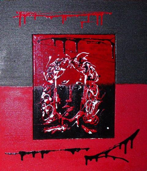 il mio povero cristo - smalto acrilico - 50 x 43 - anno 2009