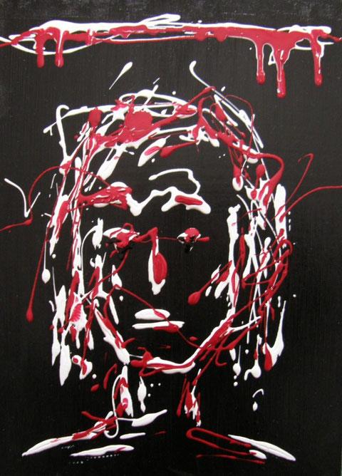 Jonathan Crane (il povero cristo più povero cristo) - acrilico - 35 x 20 - 2009