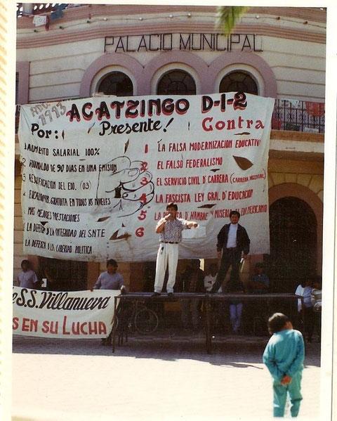 Cayo Vicente, dirigente sindical 1993