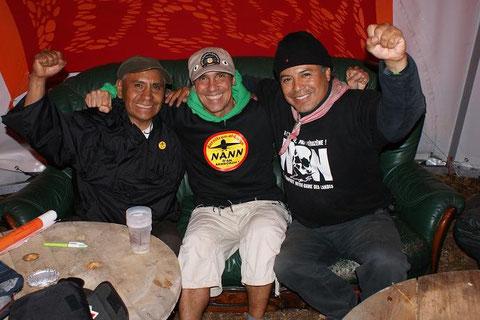Ignacio del Valle, Manu Chao y Cayo Vicente en Alemania.