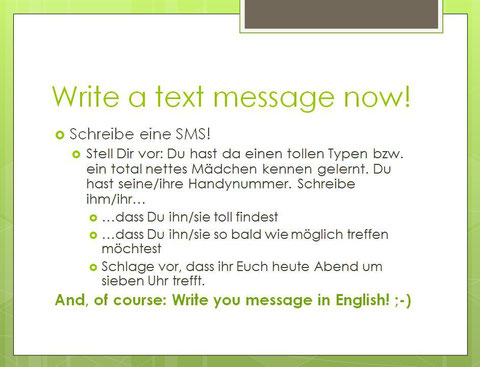 Write a text message!