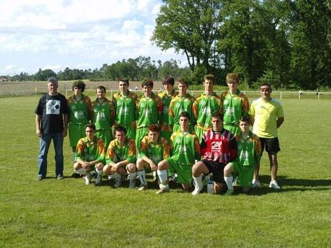 L'équipe vainqueur de la Coupe du District -18 ans en 2009